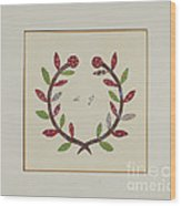 Pieced Autograph Quilt (1 Piece) Wood Print