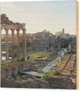 Rome Forum  Wood Print