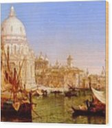 selous Henry Courtney A View Along The Grand Canal With Santa Maria Della Salute Henry Courtney Selous Wood Print