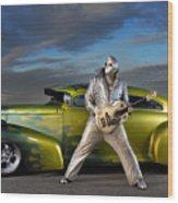 Silver Elvis Wood Print