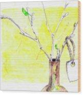 Sketches Wood Print
