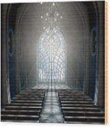 Stained Glass Window Church Wood Print