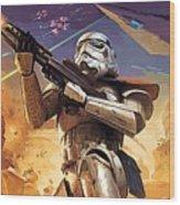 Star Wars Saga Poster Wood Print