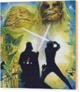 The Star Wars Art Wood Print