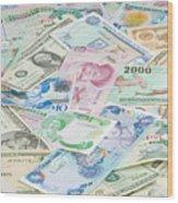 Travel Money - World Economy Wood Print