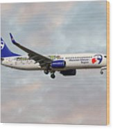 Travel Service Boeing 737-8cx Wood Print