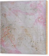 11. V2 Pink And Cream Texture Glaze Painting Wood Print