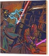 Video Star Wars Poster Wood Print