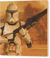 Vintage Star Wars Poster Wood Print