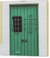Wooden Door In Old San Juan, Puerto Rico Wood Print