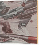 World War II Advertisement Wood Print