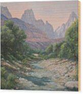 110124-1216   Bryce Canyon Run-off Wood Print