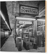 110th Street And Lenox Avenue Station - New York City Wood Print