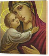 Mary And Child Wood Print