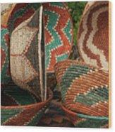11261 Baskets In Santa Fe Wood Print