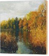 Landscape Definition Nature Wood Print