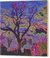 113z  Gothic  Blue Wood Print