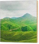 Nature Landscape Art Wood Print
