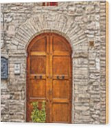 1164 Assisi Italy Wood Print