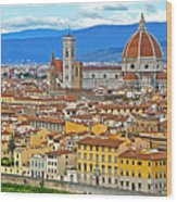 1167 Florence Italy Panorama Wood Print