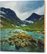 Nature Pictures Of Oil Paintings Landscape Wood Print