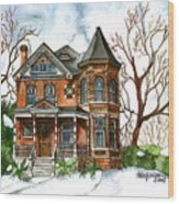 Victorian Winter Wood Print
