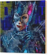 Catwoman Wood Print