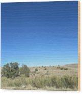 Desert Landscape Wood Print