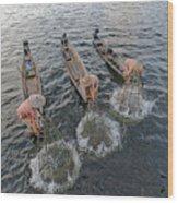 Fisherman Inle Lake - Myanmar Wood Print