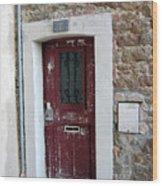 French Doors Wood Print