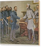 Lees Surrender 1865 Wood Print by Granger