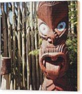 Maori Carving Wood Print
