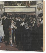Masked Ball At The Opera Wood Print