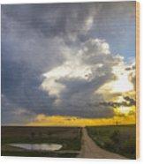 May Nebraska Storm Cells Wood Print
