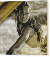 Megan Fox Collection Wood Print