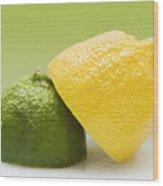12 Organic Lemon And 12 Lime Wood Print