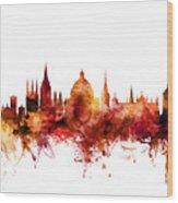 Oxford England Skyline Wood Print