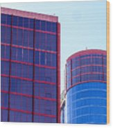 Rio Red And Blue Wood Print