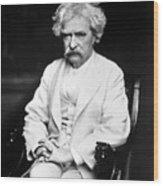 Samuel Langhorne Clemens Wood Print