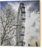 The London Eye Art Wood Print