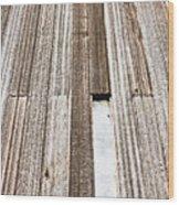 Wooden Panels Wood Print