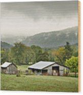 1209-1116 - Boxley Valley Barn Wood Print by Randy Forrester
