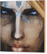 120941 The Elder Scrolls V Skyrim Wizard Blue Eyes Wood Print