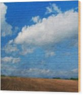 Nature Oil Painting Landscape Images Wood Print