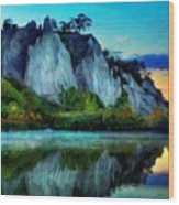 Painting Landscape Wood Print