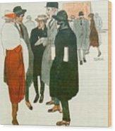 12264 Rafael De Penagos Wood Print