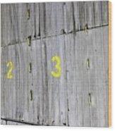 1234 Wood Print