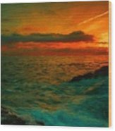 Nature Landscape Oil Painting For Sale Wood Print