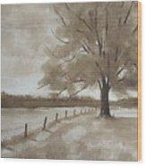 124s Sepia Wood Print
