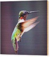 1257-006 - Ruby-throated Hummingbird Wood Print